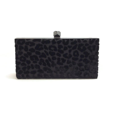 Jimmy Choo Celeste Black Velvet Clutch