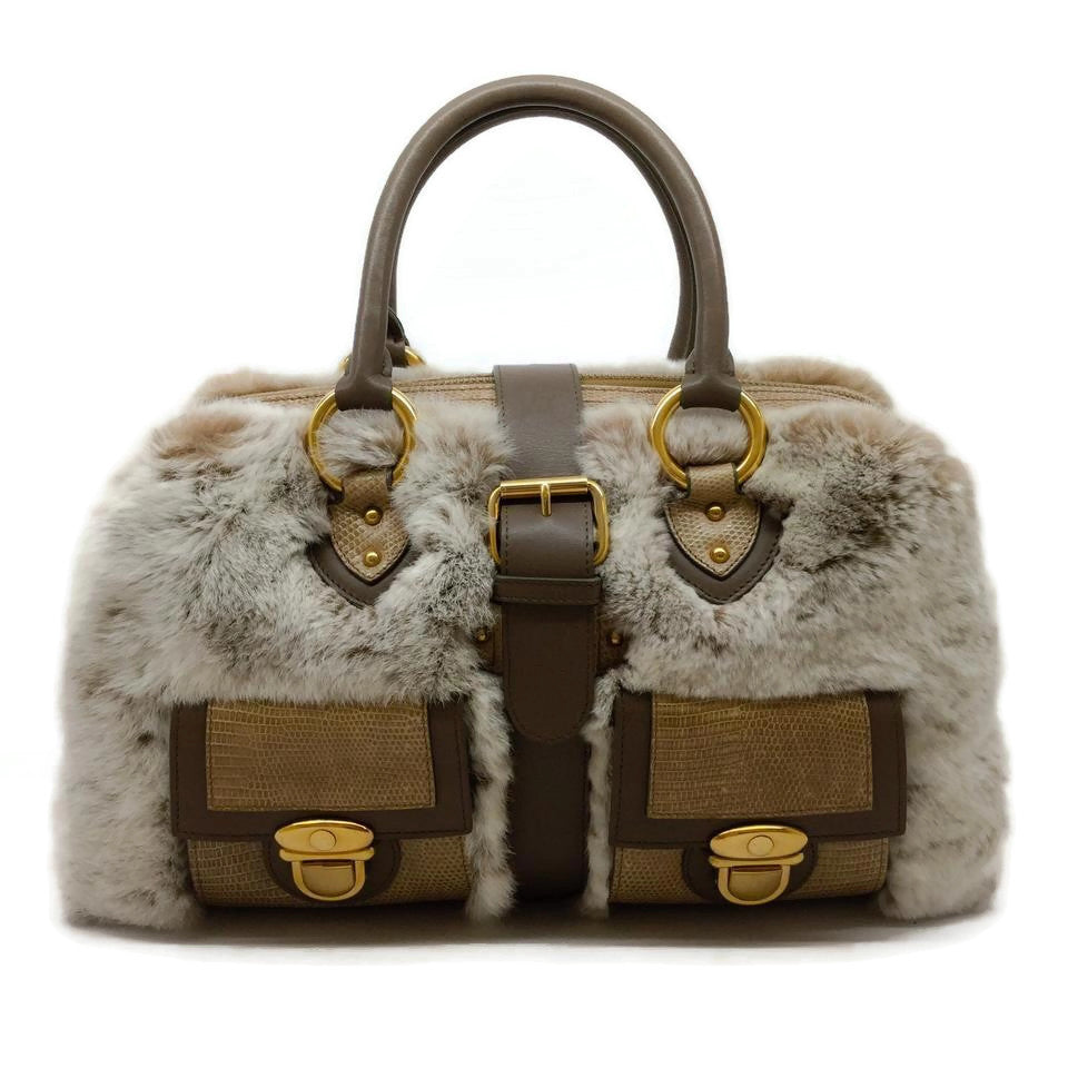 Marc Jacobs Venetia Tan Lizard Skin Leather Satchel