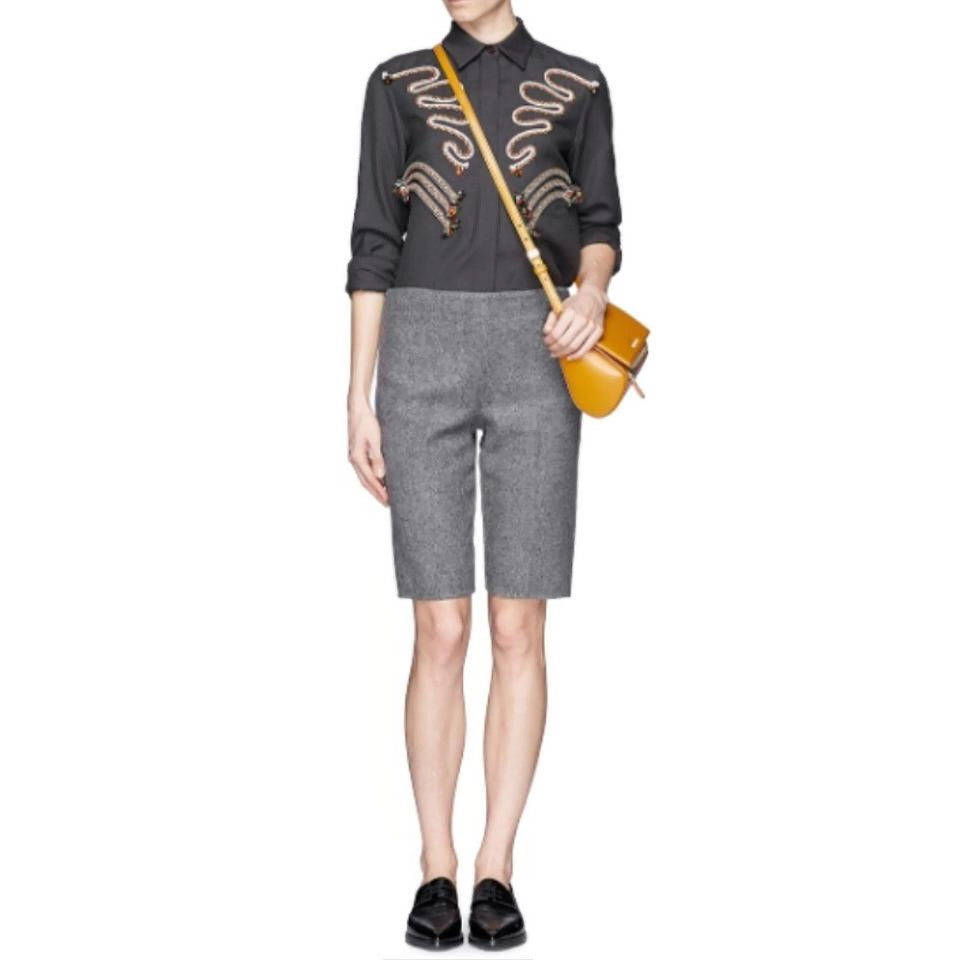 Stella McCartney Gray Umber Button-down Top