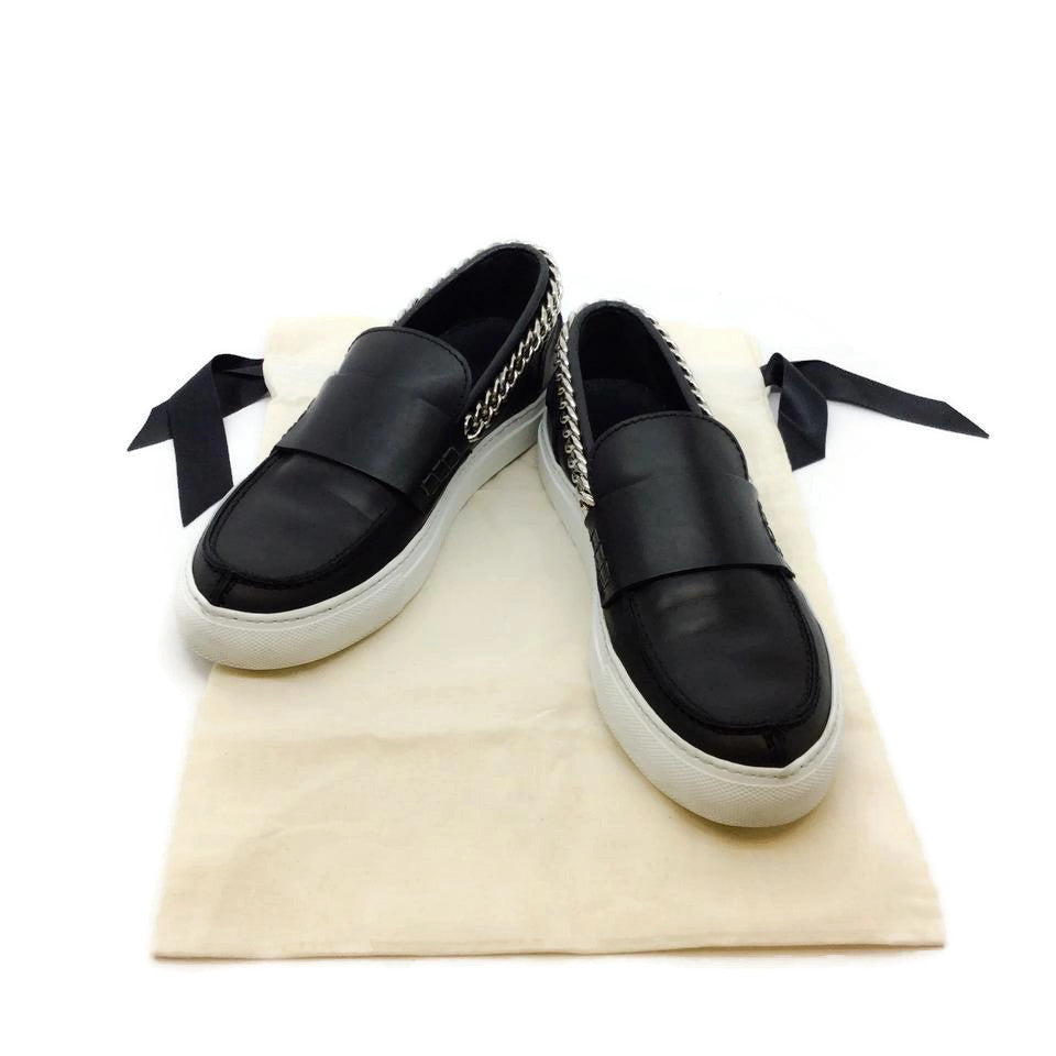 Giambattista Valli Black Silver Chain Sneakers