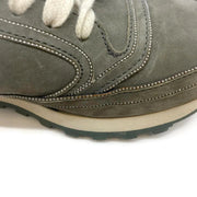 Brunello Cucinelli Light Green Velvet Sneakers