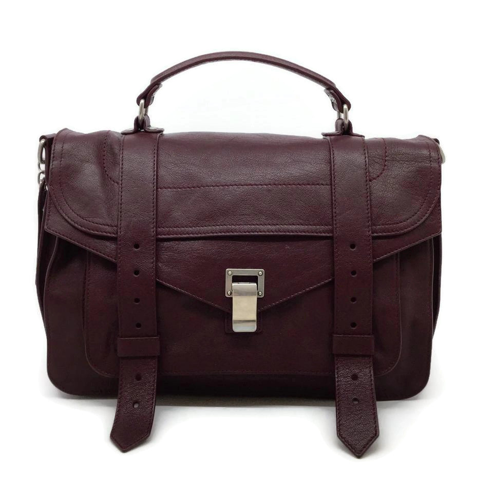 Proenza Schouler PS1 Burgundy Leather Messenger Bag