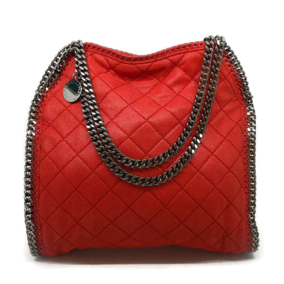 Stella McCartney Falabella Red Quilted Shoulder Bag