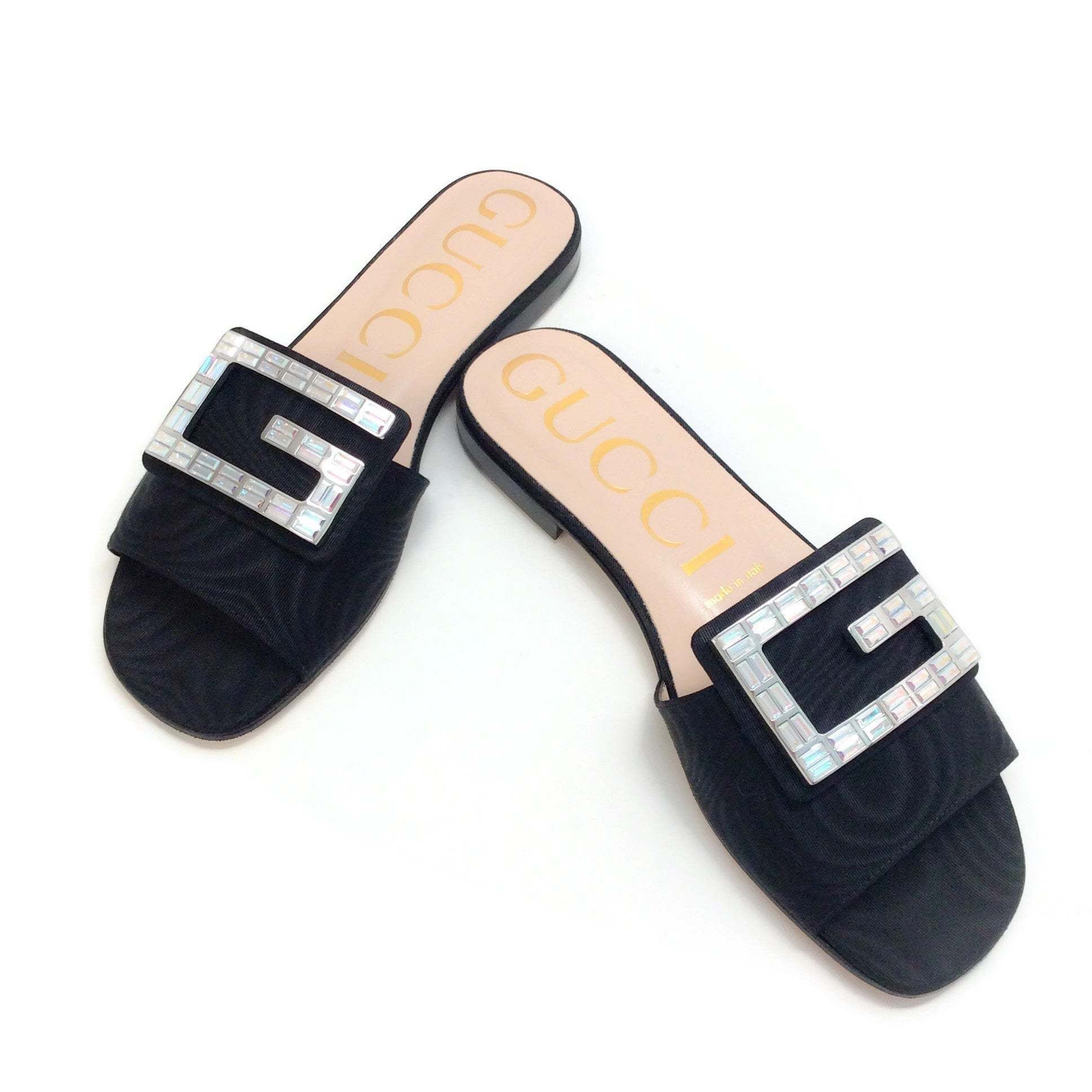 Gucci Black Grosgrain Madelyn Sandals