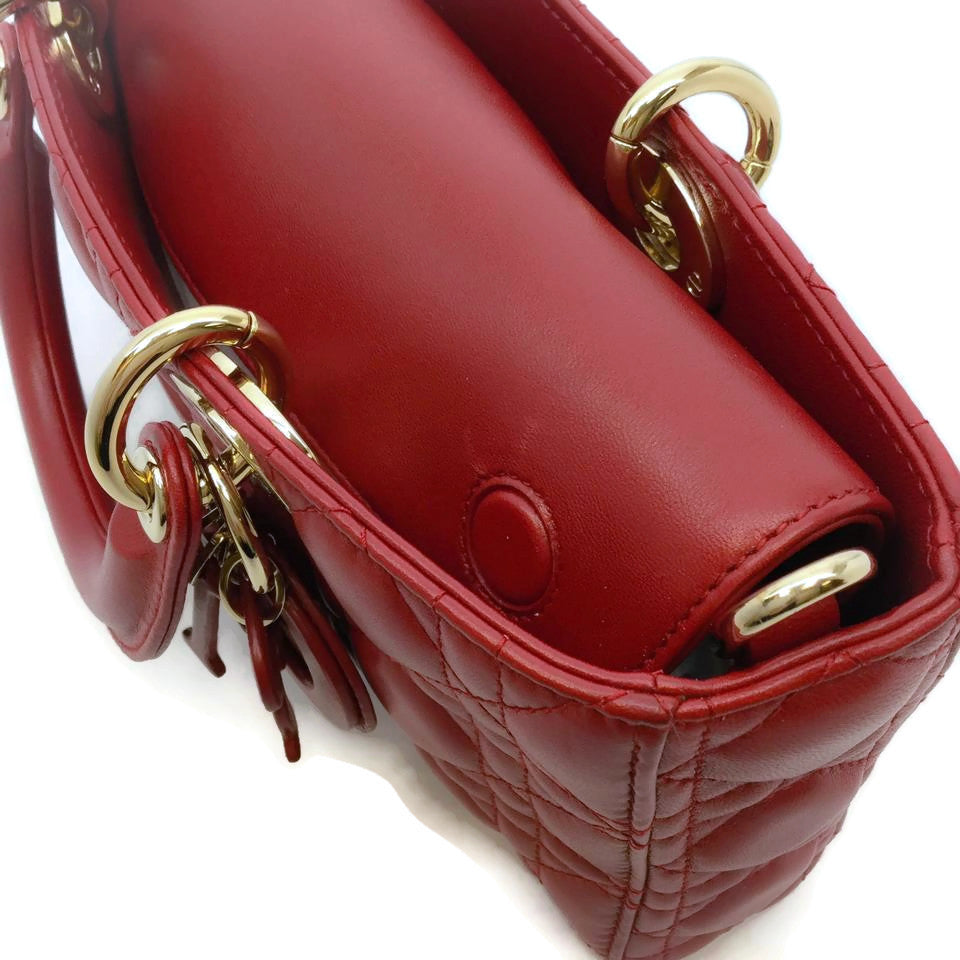 Dior Red Leather Runway Shoulder Bag