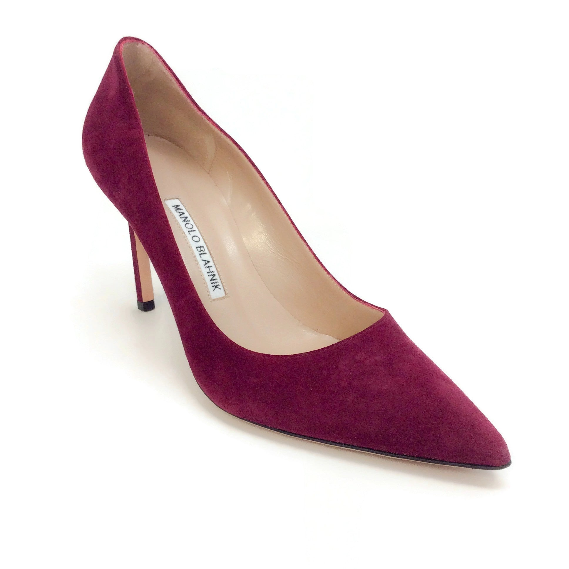 Manolo Blahnik Oxblood Bb 90 Asiago Pumps