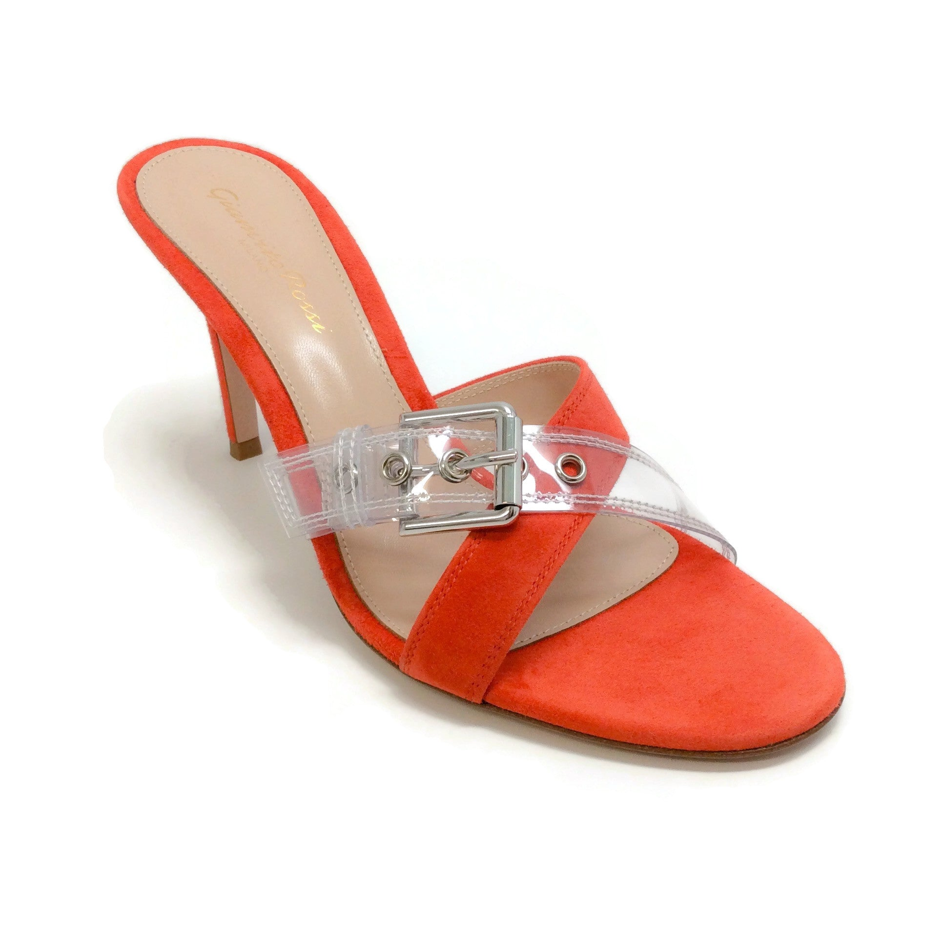 Gianvito Rossi Orange / Lucite Lilas Sandals
