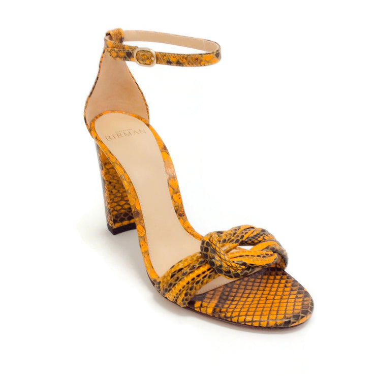 Alexandre Birman Sunflower Python Chiara Sandals