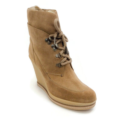 Veronica Beard Khaki Faux Fur Mack Boots