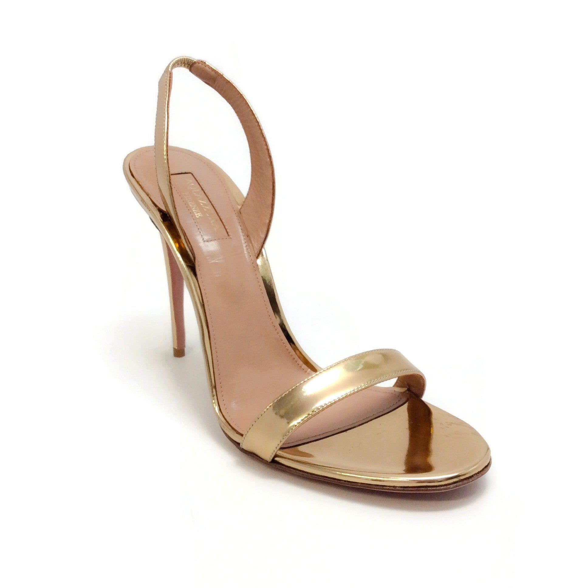 Aquazzura Gold Metallic So Nude Sandals