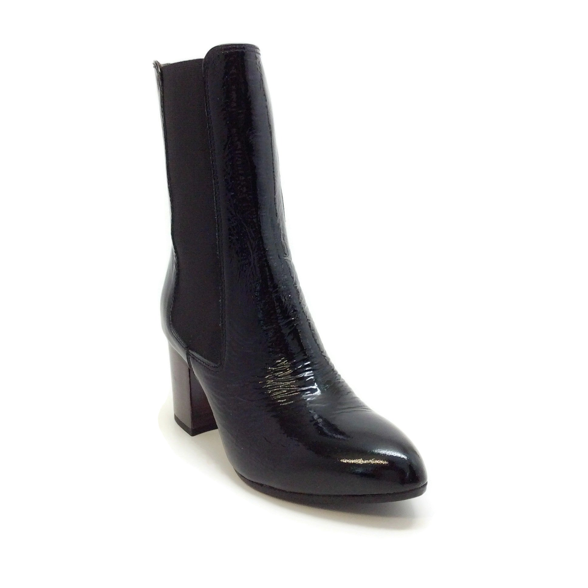 Sonia Rykiel Black Patent Middle Boots