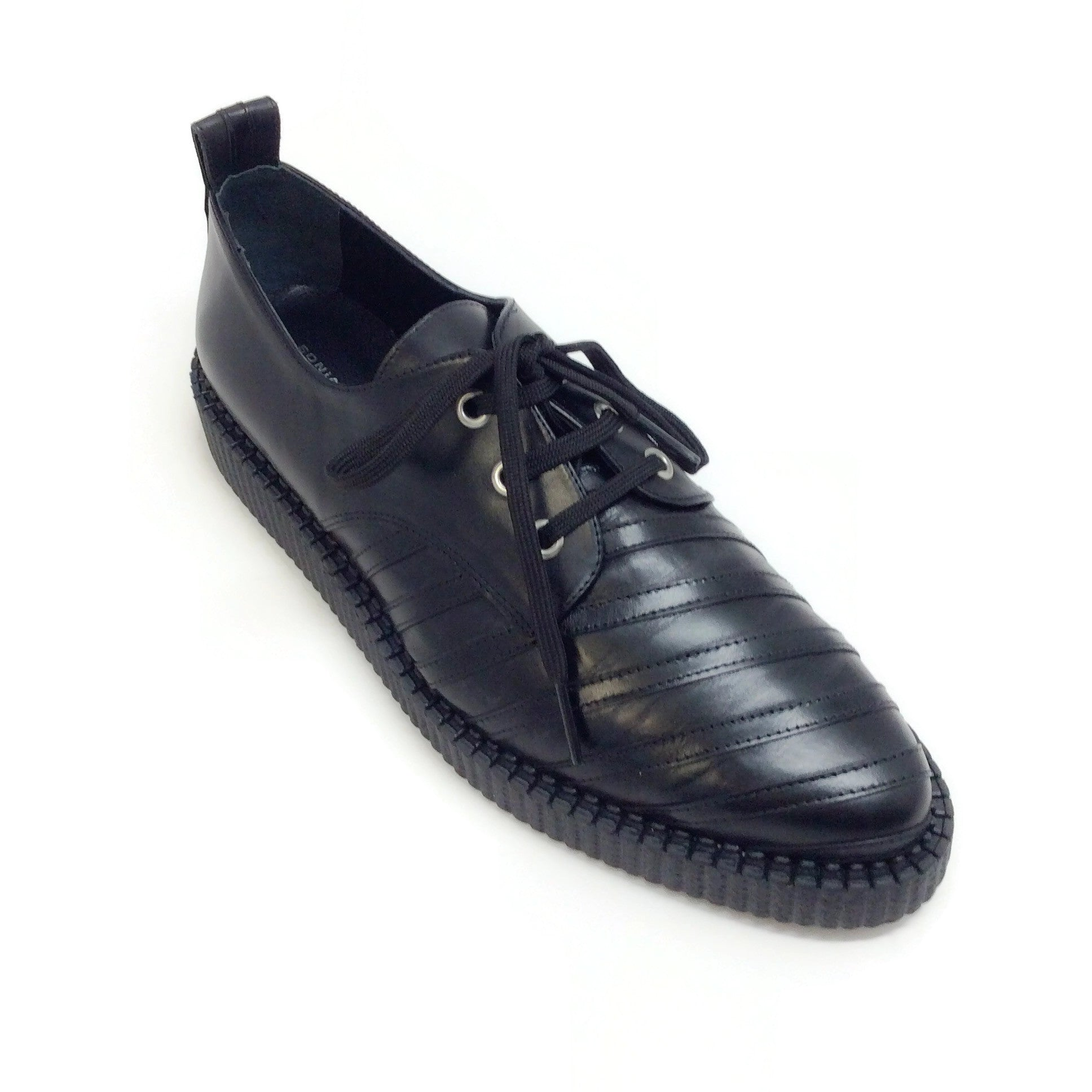 Sonia Rykiel Black Stripe Detail Oxfords