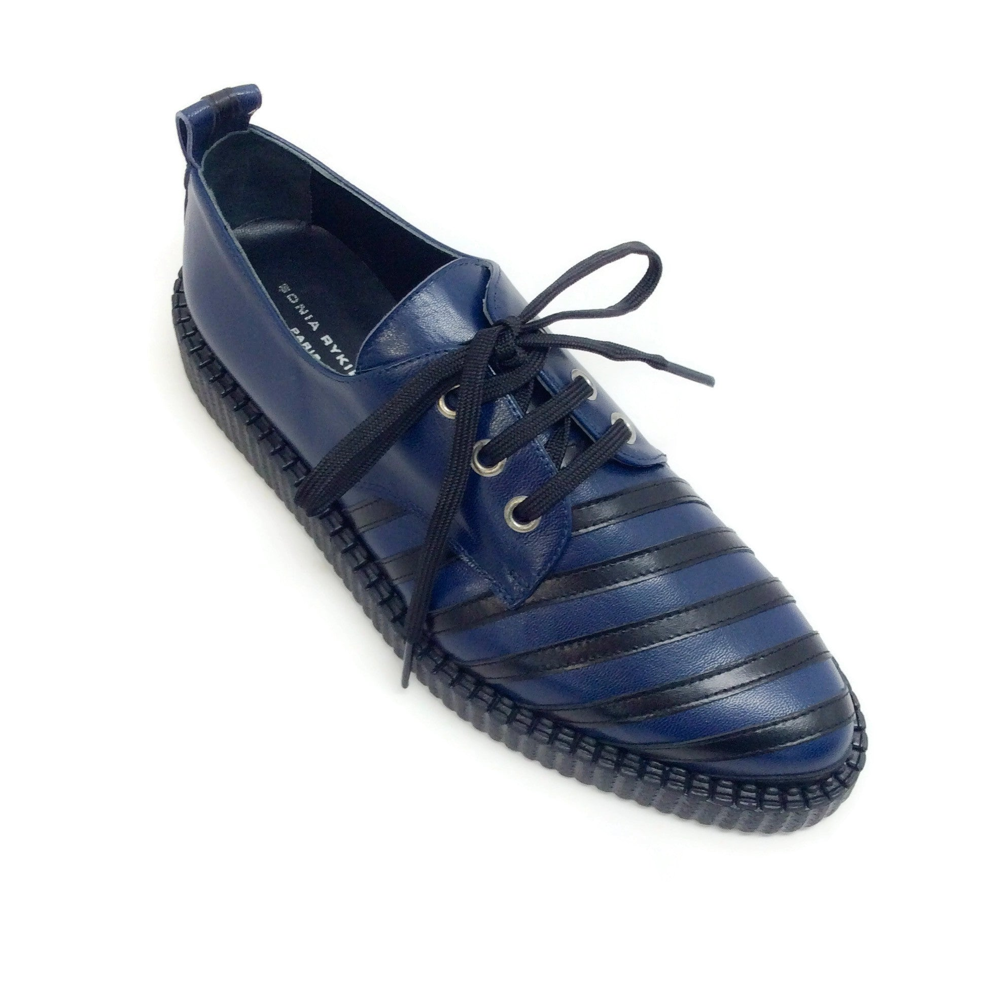 Sonia Rykiel Navy / Black Stripe Detail Oxfords