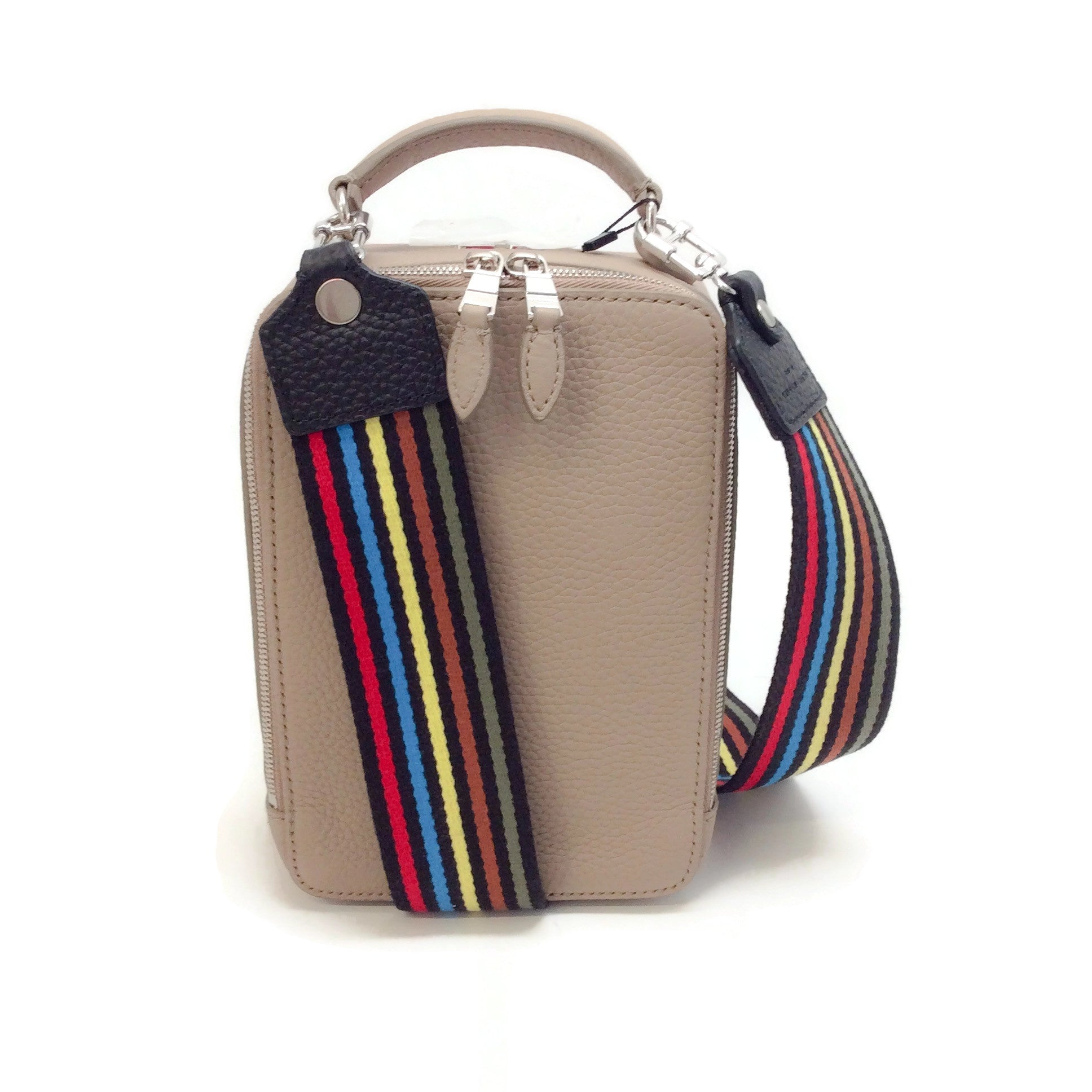 Sonia Rykiel Box Taupe Leather Cross Body Bag