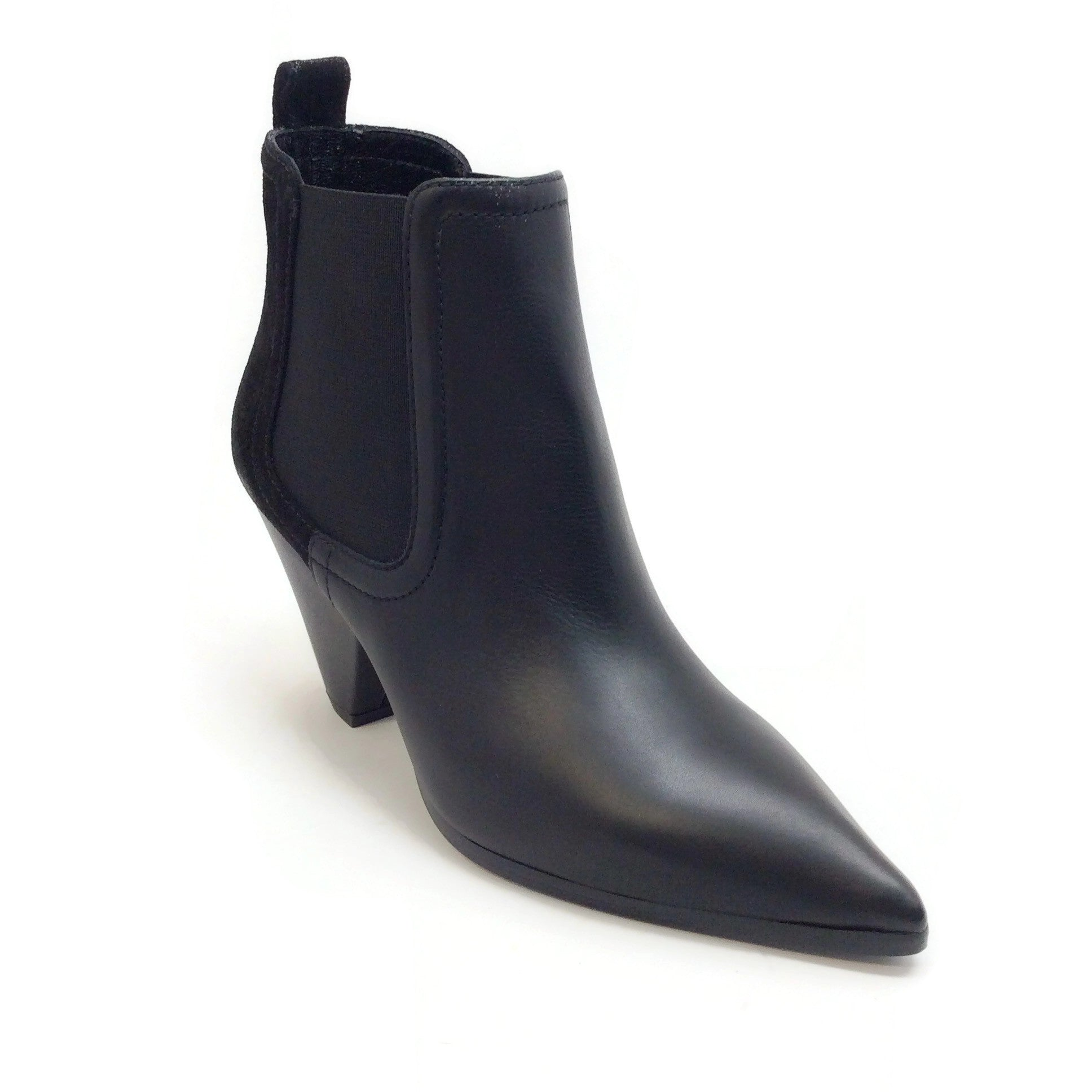 Sonia Rykiel Black Leather and Suede Ankle Boots