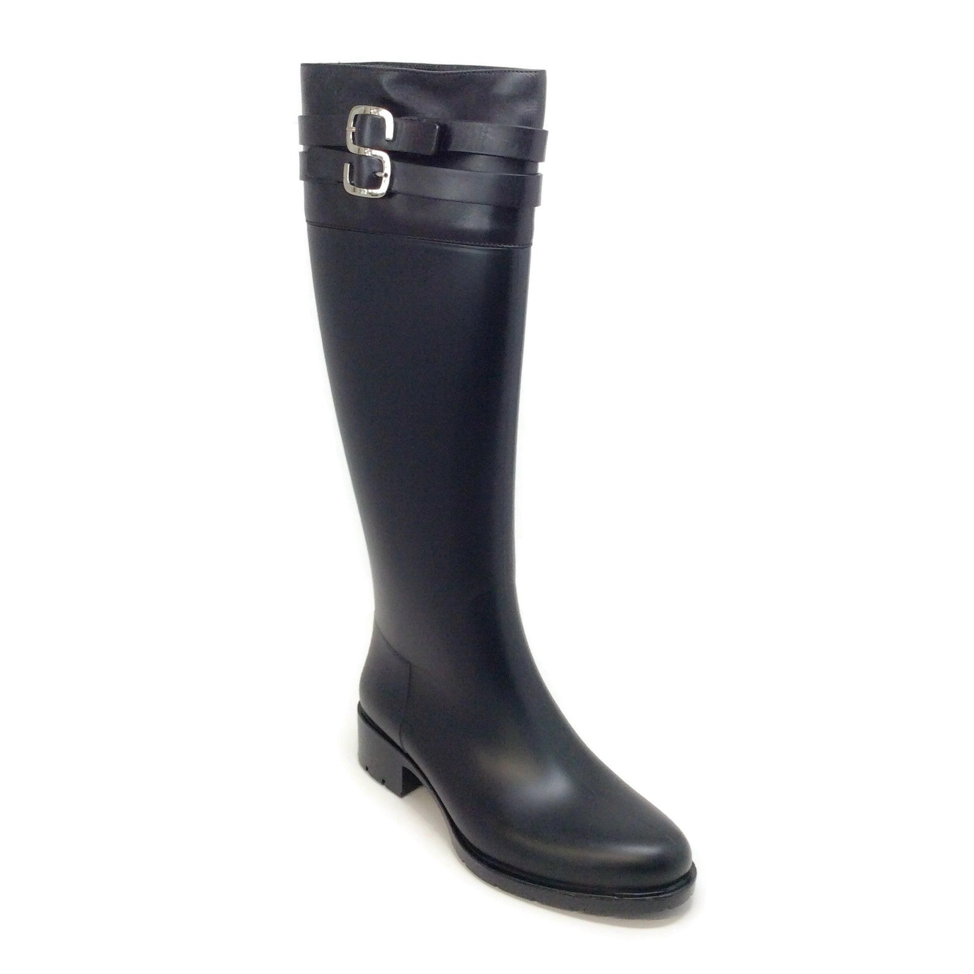 Sonia Rykiel Black Rubber with Logo Boots