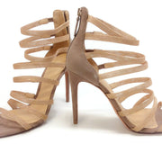 Alexandre Birman Gold Strappy Sandals