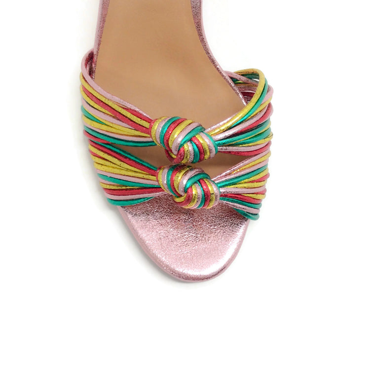 Veronica Beard Rainbow Alessia Slingback Sandals