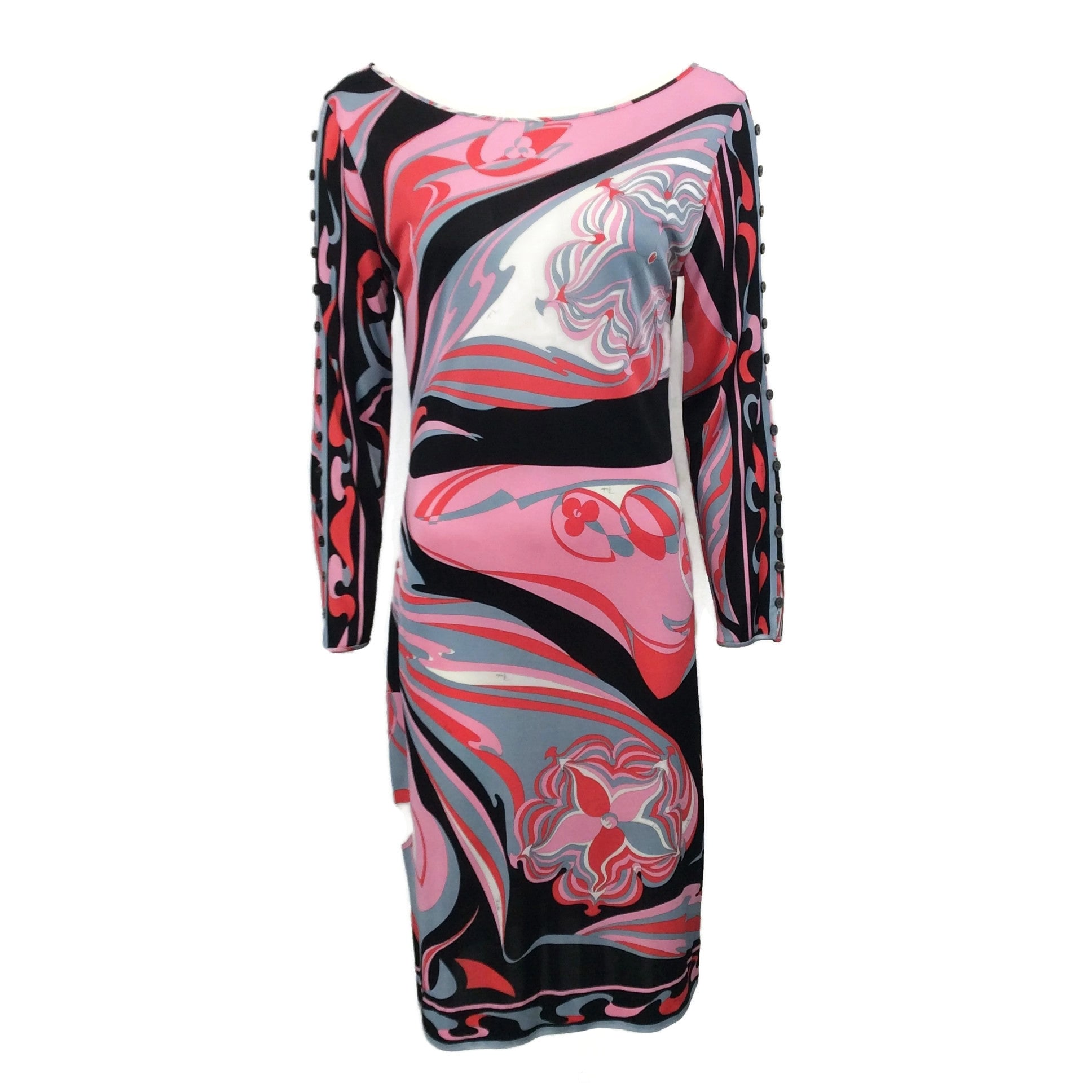 Emilio Pucci Pink / Red / Black Scoop Dress