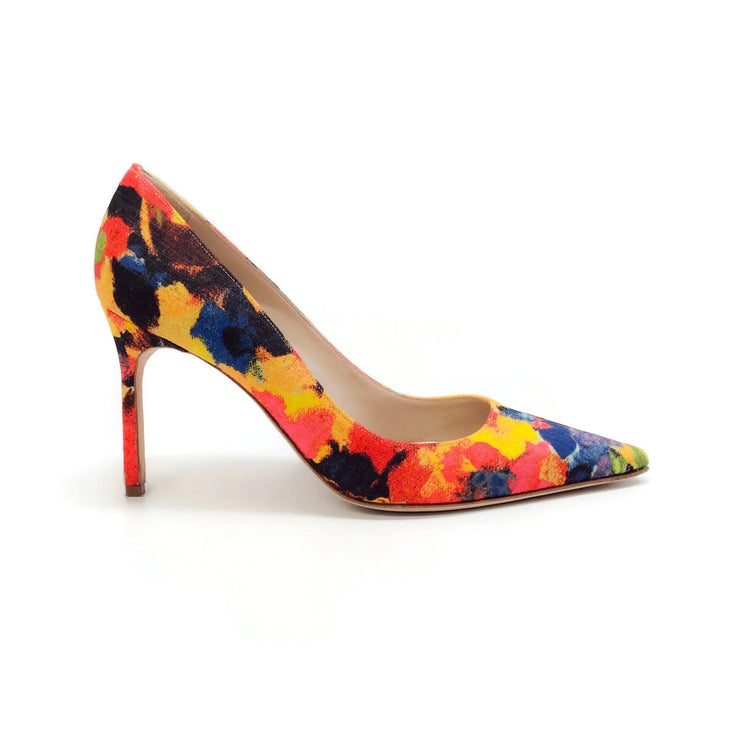 Manolo Blahnik Yellow Multi BB Pumps