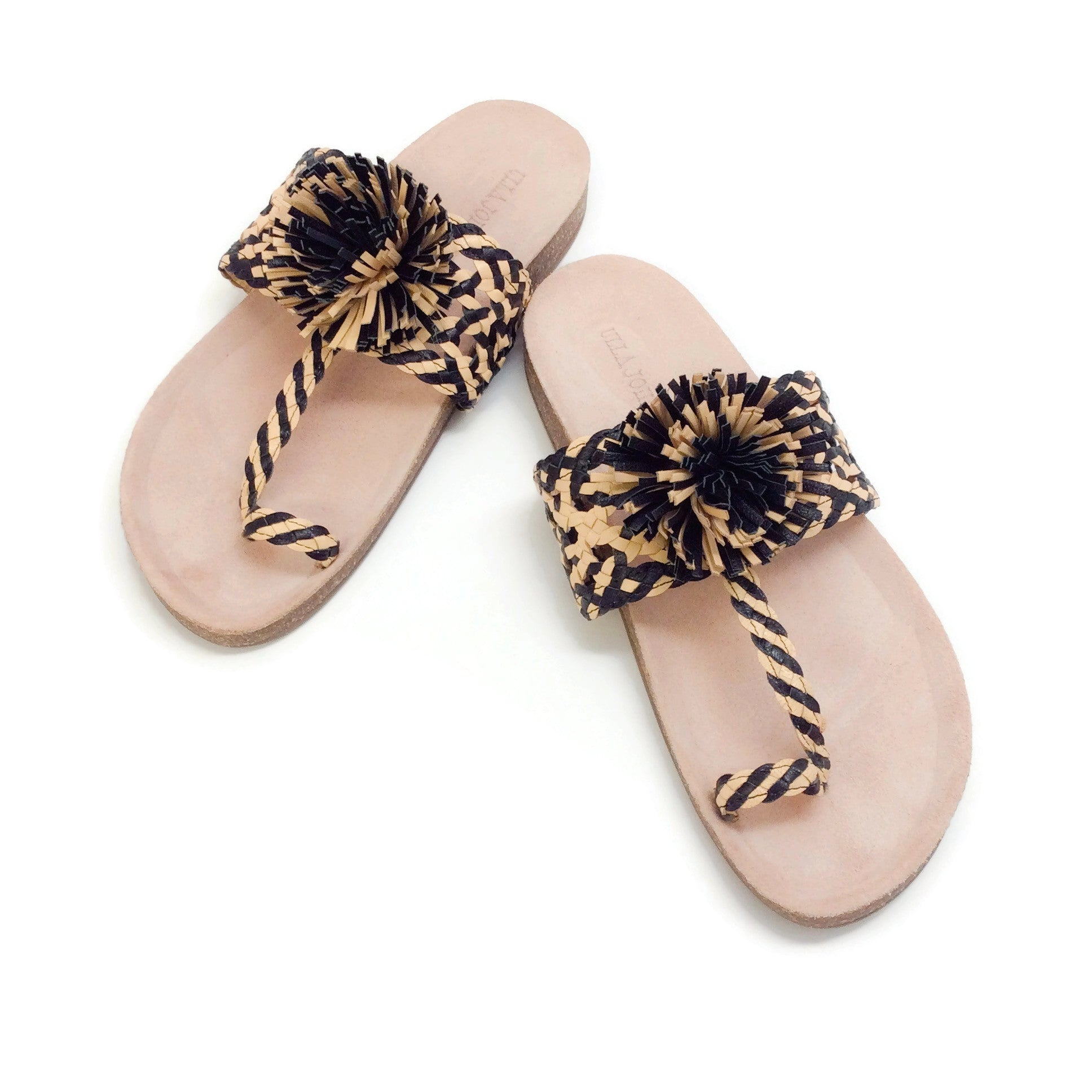 Ulla Johnson Black / Natural Netta Sandals