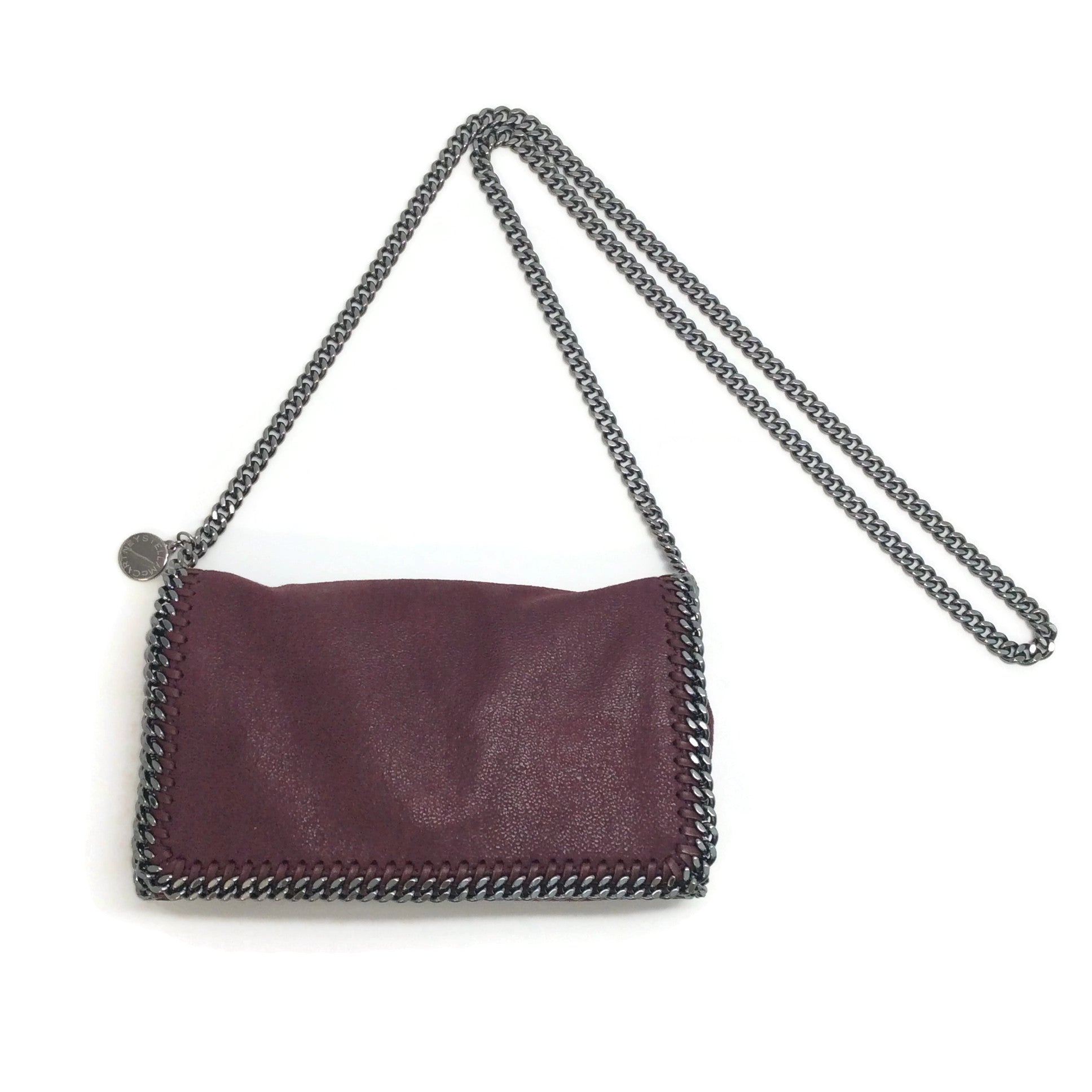 Stella McCartney Falabella Oxblood Shaggy Deer Shoulder Bag