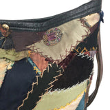 Ralph Lauren 50th Anniversary Vintage Quilt Multicolor Leather Multi Shoulder Bag