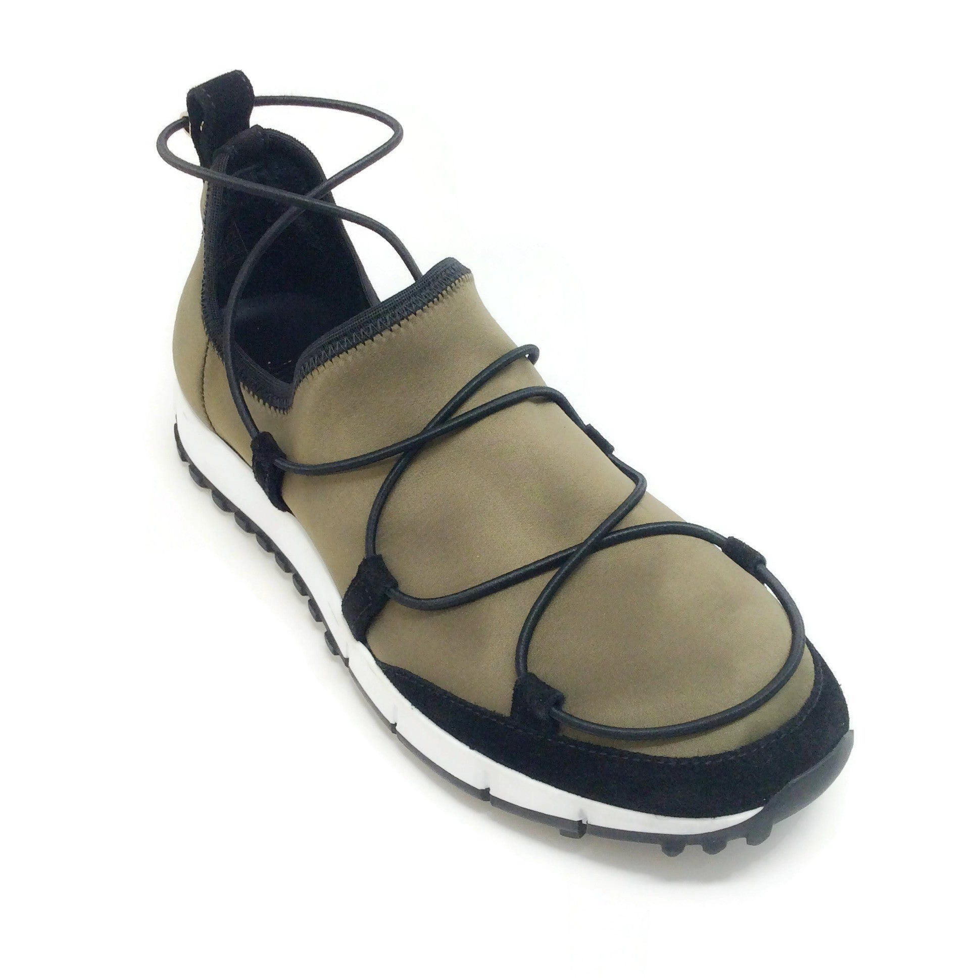 Jimmy Choo Olive / Black Andrea Sneakers