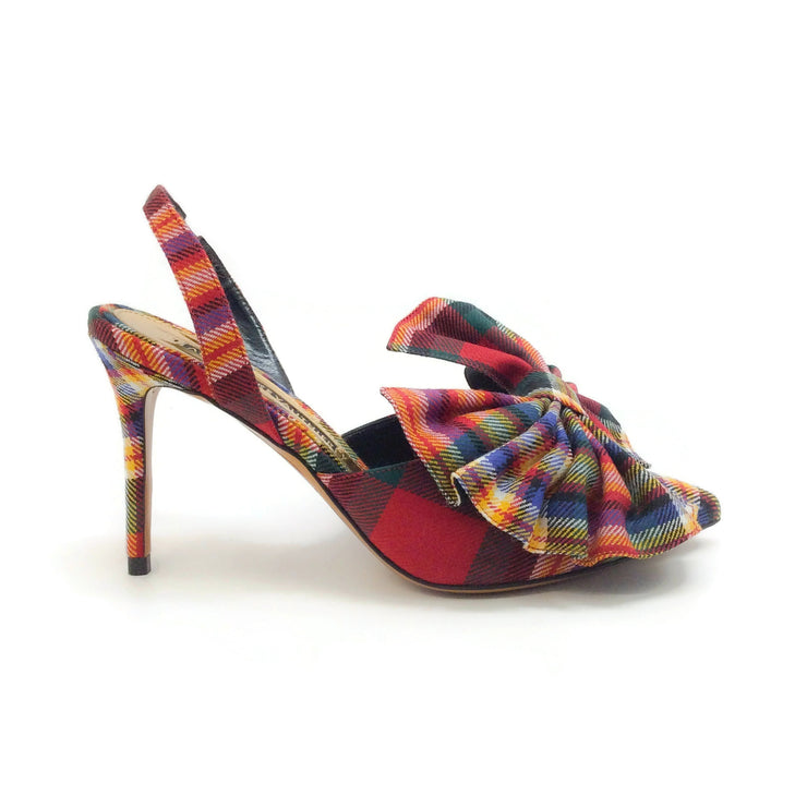 Alexandre Vauthier Multi Plaid Kate Pumps