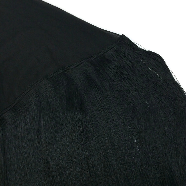 Magda Butrym Black Lamar Fringed Cape