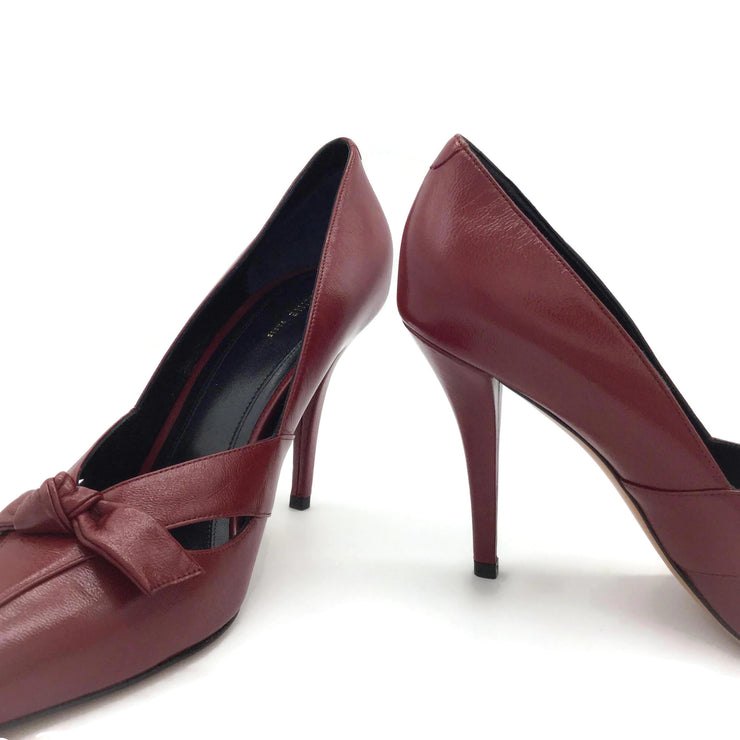 Céline Oxblood Cutout Knot Pumps