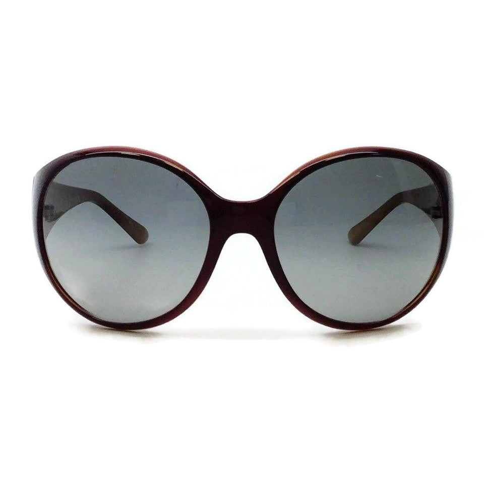 Chanel Oxblood Crystal Logo Sunglasses