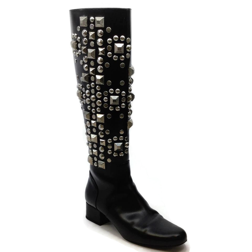 Saint Laurent Black Babies Stud Boots/Booties