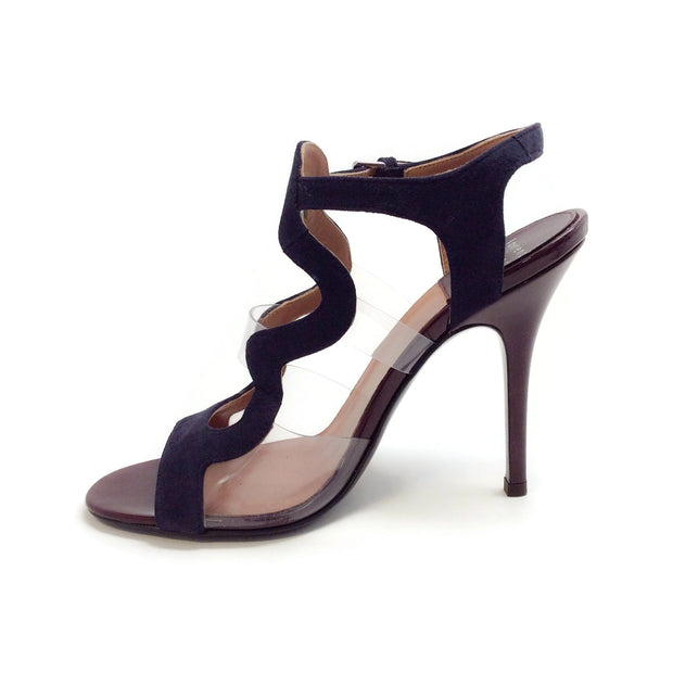 Laurence Dacade Oxblood Patent / Navy Suede Toma Sandals
