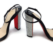 Christian Louboutin Black Au Palace 120 Crystal Sandals