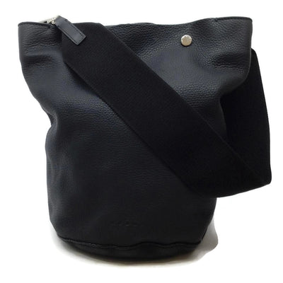 Marni Black Leather Bucket Bag