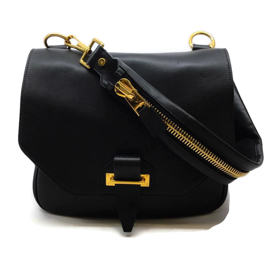 Tom Ford Jennifer Black Leather Shoulder Bag