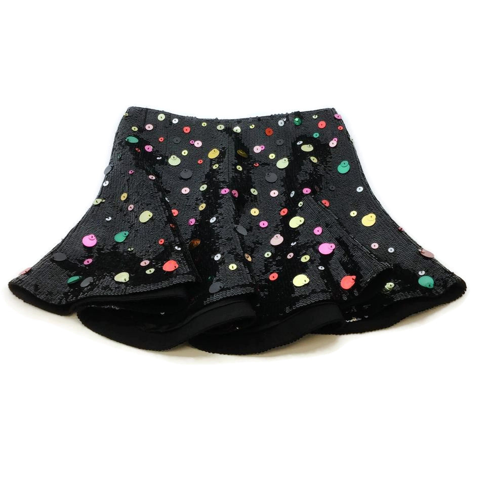Valentino Black Sequin Pailette Skirt