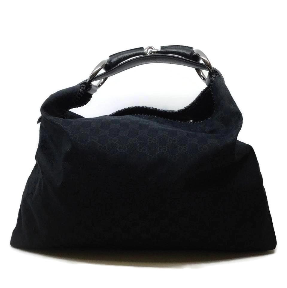 Gucci Logo Canvas Black Tote