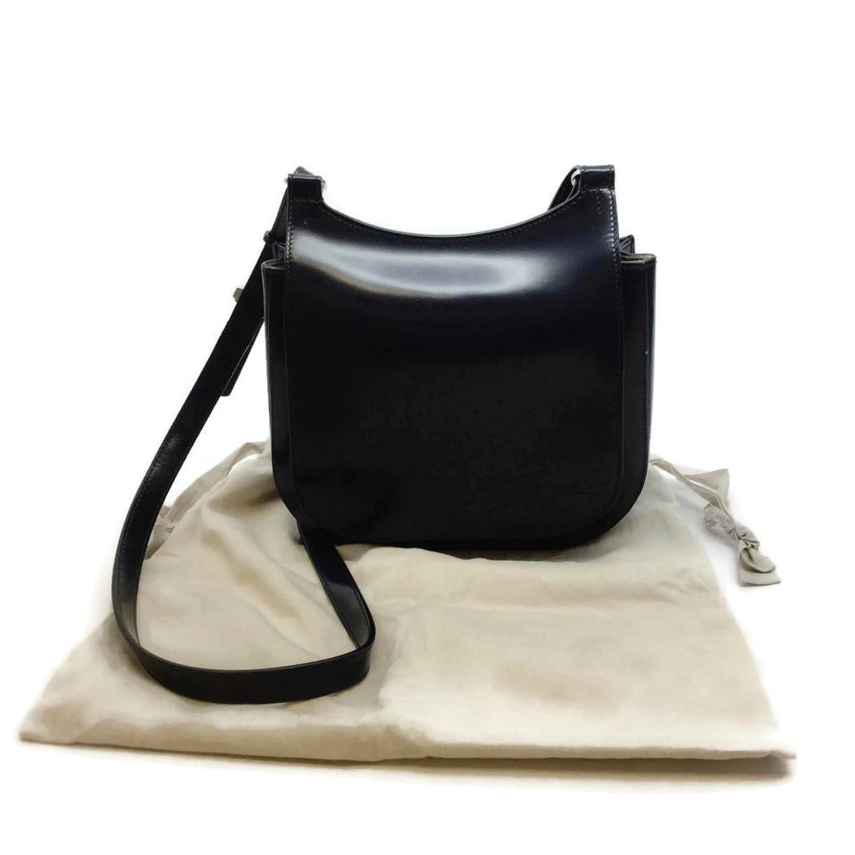 The Row Hunting 9 Navy Leather Cross Body Bag