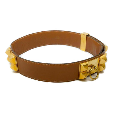 Hermès Tan Collier De Chien Belt