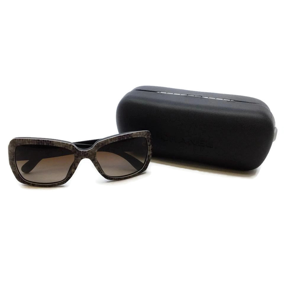 Chanel Taupe Marble Square Gradient Sunglasses