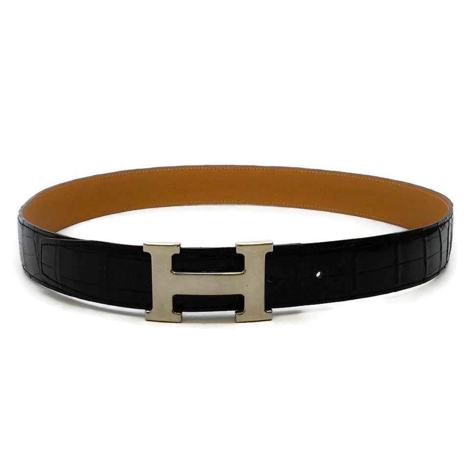 Hermès Black Polished 32 Mm Belt