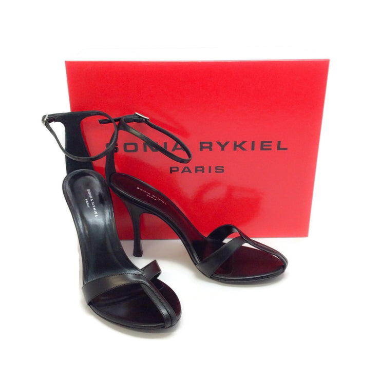 Sonia Rykiel Black Ankle Strap Sandals