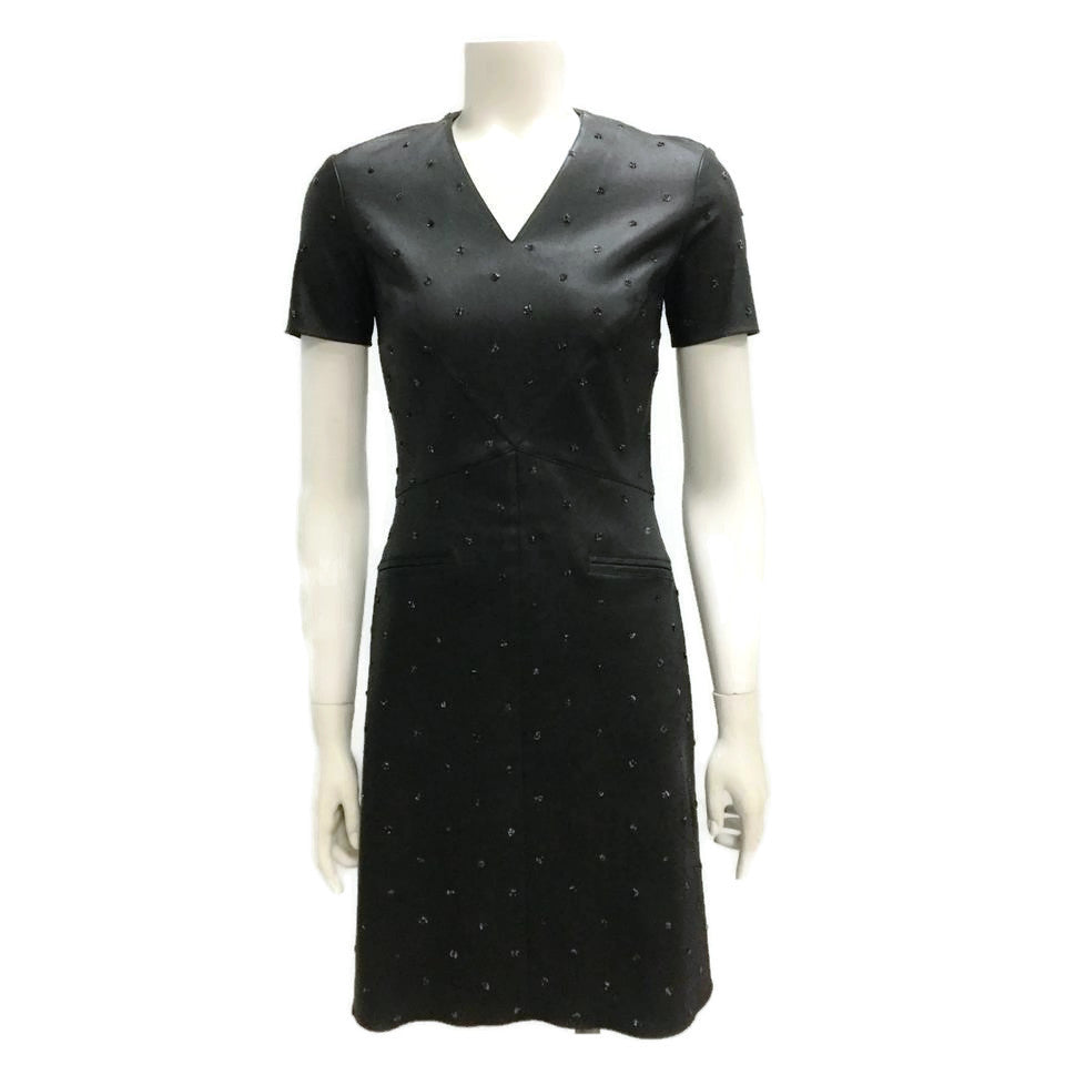 Chanel Black Tweed Dot Cocktail Dress