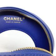 Chanel Round Cruise Lifesaver Blue / Black Leather Shoulder Bag