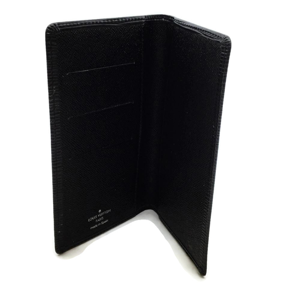 Louis Vuitton Black Epi Leather Checkbook Holder Wallet