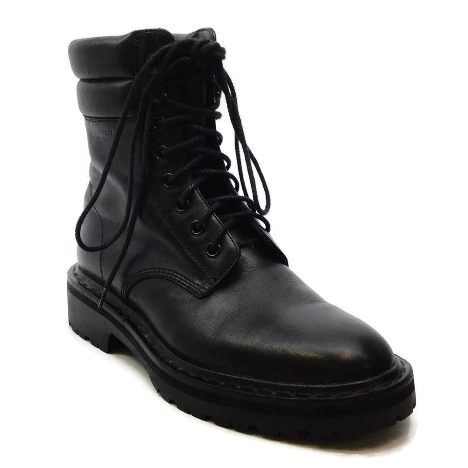 Saint Laurent Black Leather Army Boots/Booties