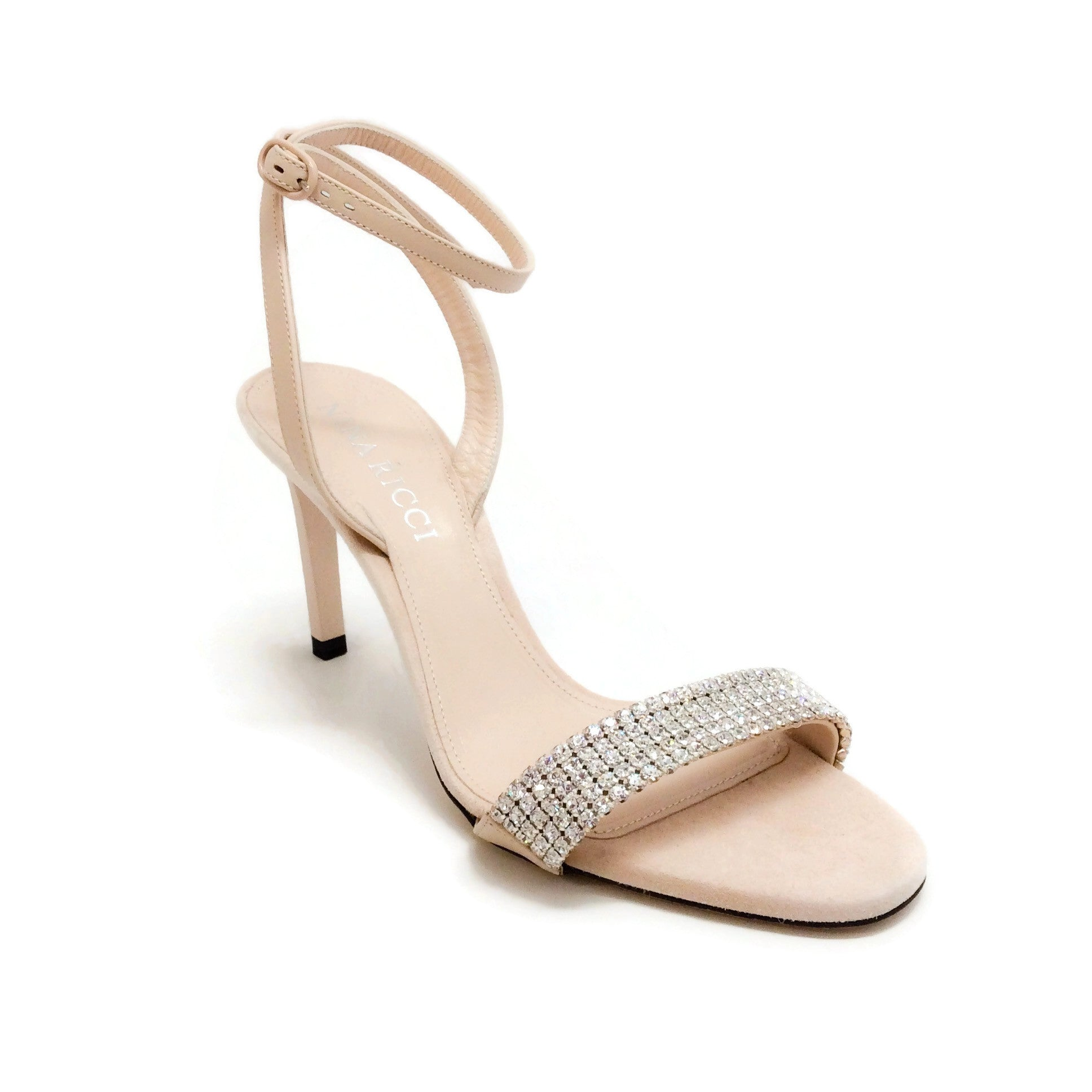 Nina Ricci Bisque Crystal Embellished Sandals