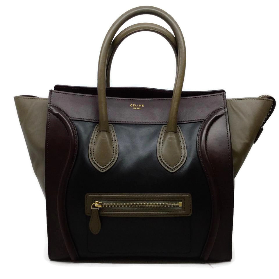 Céline Luggage Tri Color Leather Tote